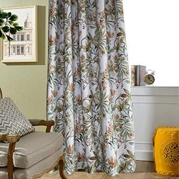 Flower Curtains Blackout Bedroom Drapes - Anady 2 Panel Room