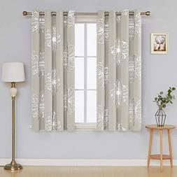 Deconovo Foil Print Flower Design Thermal Insulated Window B