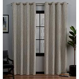 Exclusive Home Forest Hill Woven Blackout Grommet Top Window