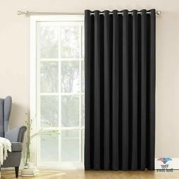 French Door Curtains Extra Wide Blackout Pinch Pleated Therm