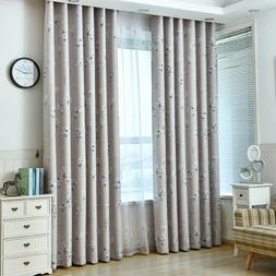 Fresh Flower Printed Blackout Curtain Gray Blind Country Blu