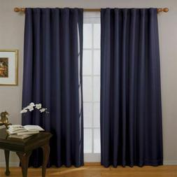 Eclipse Fresno 52 by 84-Inch Blackout Window Curtain, Dark B