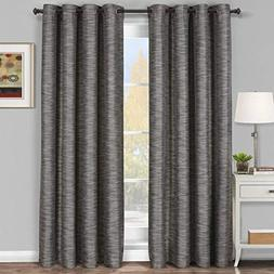 Royal Hotel Galleria Gray-Silver Grommet Blackout Window Cur