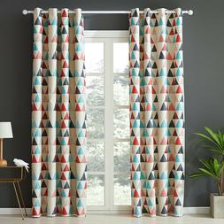 Geometric Pattern Window Treatments Curtains for Living Room
