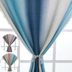 Gradient Color Blackout Window Curtains Room Thermal Insulat