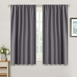RYB HOME Gray Blackout Curtains for Kitchen  Thermal Insulat
