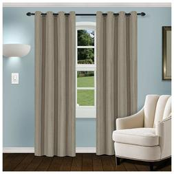 Superior Gray Linen Blackout Insulated Grommet Curtains 2 Pa
