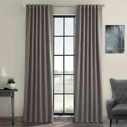 Exclusive Fabrics Gray Thermal Blackout Curtain Panel Pair N