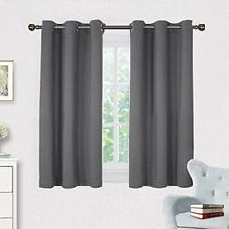 NICETOWN Grey Blackout Curtain Panels for Bedroom, Thermal
