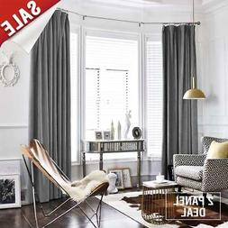 jinchan Grey Velvet Curtains Half Blackout Drapes for Bedroo