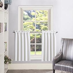 Aquazolax Greyish White Curtain Tier/Valance Rod Pocket Room