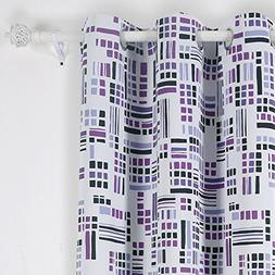 Deconovo Grommet Top Abstract Oblong Print Thermal Insulated