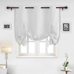 Grommet Blackout Curtain Tie Up Shade Window Panels for Livi