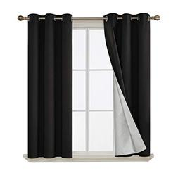 Deconovo Grommet Top Blackout Curtains Thermal Insulated wit