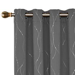 Deconovo Blackout Grommet Curtains Pair Thermal Insulated Li