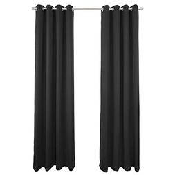 NIM Textile Grommet Curtains Thermal Insulated Blackout Drap