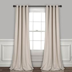 Lush Decor Grommet Sheer Insulated Blackout Lining Window Cu