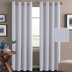 Linen Curtains White 84 Room Darkening Linen Look Curtains L