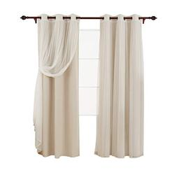 Deconovo Grommet Top Thermal Insulated Blackout Curtains Lig