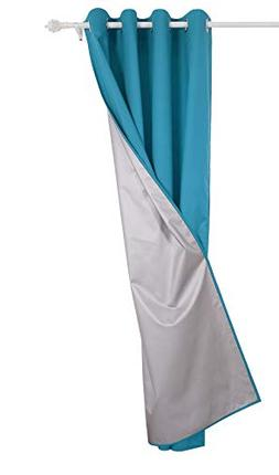 Deconovo Grommet Top Thermal Insulated Curtain with Silver B