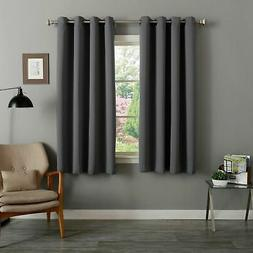 Aurora Home Grommet Top Thermal Insulated Blackout 64-inch C