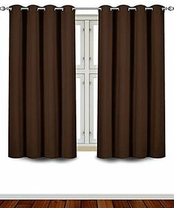 Utopia Bedding 2 Panels Grommet Blackout Curtains Thermal In