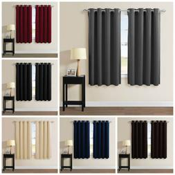 Grommet Top Thermal Insulated Blackout Window Curtain Set-10