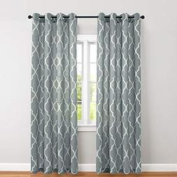 Linen Textured Curtains for Bedroom Grey on Flax 84 inch Lon