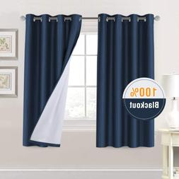 H.Versailtex 100% Blackout Curtains 63 Inches Long Thermal I