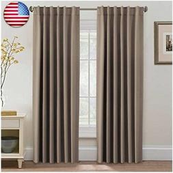 H.VERSAILTEX Blackout Thermal Insulated Curtains/Drapes, Bac