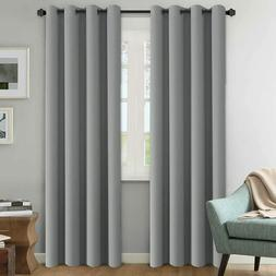 H.VERSAILTEX Linen Blackout Curtains 108 Inches Long for Bed
