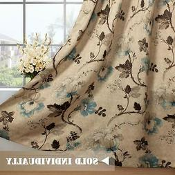 H.VERSAILTEX Vintage Floral with Brown Aqua Taupe Pattern Bl