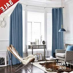 jinchan Half Blackout Velvet Curtains for Bedroom, Thermal I