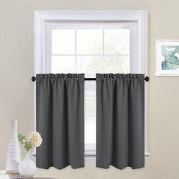 NICETOWN Half Window Blackout Valances - Window Treatment Ro