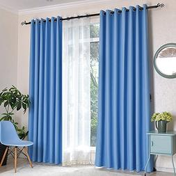 Mai kuu Premium Heavyweight Faux Silk Curtain Blue 50W x 96L