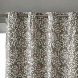 HLC.ME Damask Print 100% Full Blackout Curtains for Living