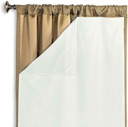 Hlc.Me White Thermal Insulated 100% Blackout Curtain Liner F