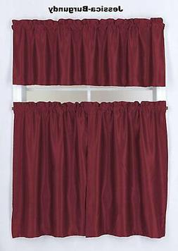 "Home 2Tier 36""L+ 1Valance 18""L Blackout Solid Curtain Rod Po"