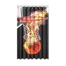 Home Decor Blackout Curtains Basketball Never Stops Polyeste