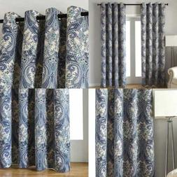 Home Decor Window Curtain For Paisley Floral Print Blackout