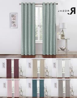 Regal Home Metallic Sparkle Thermal Grommet Blackout Curtain