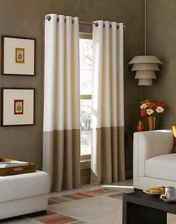 NEW Home Window Walleye Lined Drape Kendall Color Block Grom