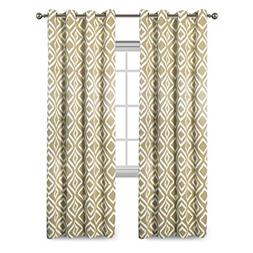 Flamingo P Ikat Fret Blackout Curtains 2 Panels Thermal Insu