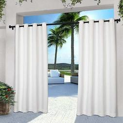 Exclusive Home Indoor/Outdoor Solid Cabana Grommet Top Curta