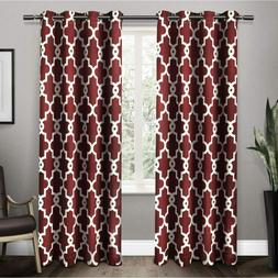 Exclusive Home Curtains Ironwork Sateen Blackout Grommet 52x