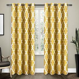 Exclusive Home Ironwork Sateen Woven Blackout Window Curtain