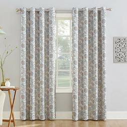 ivory pearl floral window curtain 54w 84l