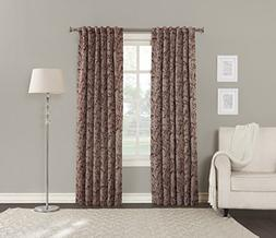 Sun Zero Kadia Floral Blackout Lined Back Tab Curtain Panel,