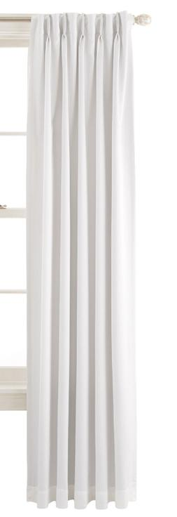 Liz Claiborne Kathryn Pinch-Pleat/Back-Tab Curtain Panel Whi