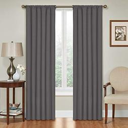 Eclipse Kendall Blackout Window Curtain Panel, 42x84, Charco